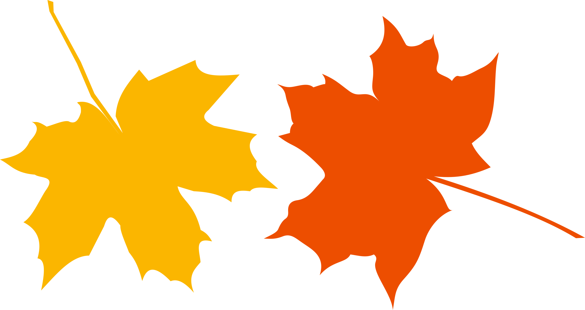 Autumn ladies and gentlemen. Color clipart spot
