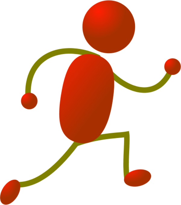 Color clipart stick figure.  collection of running