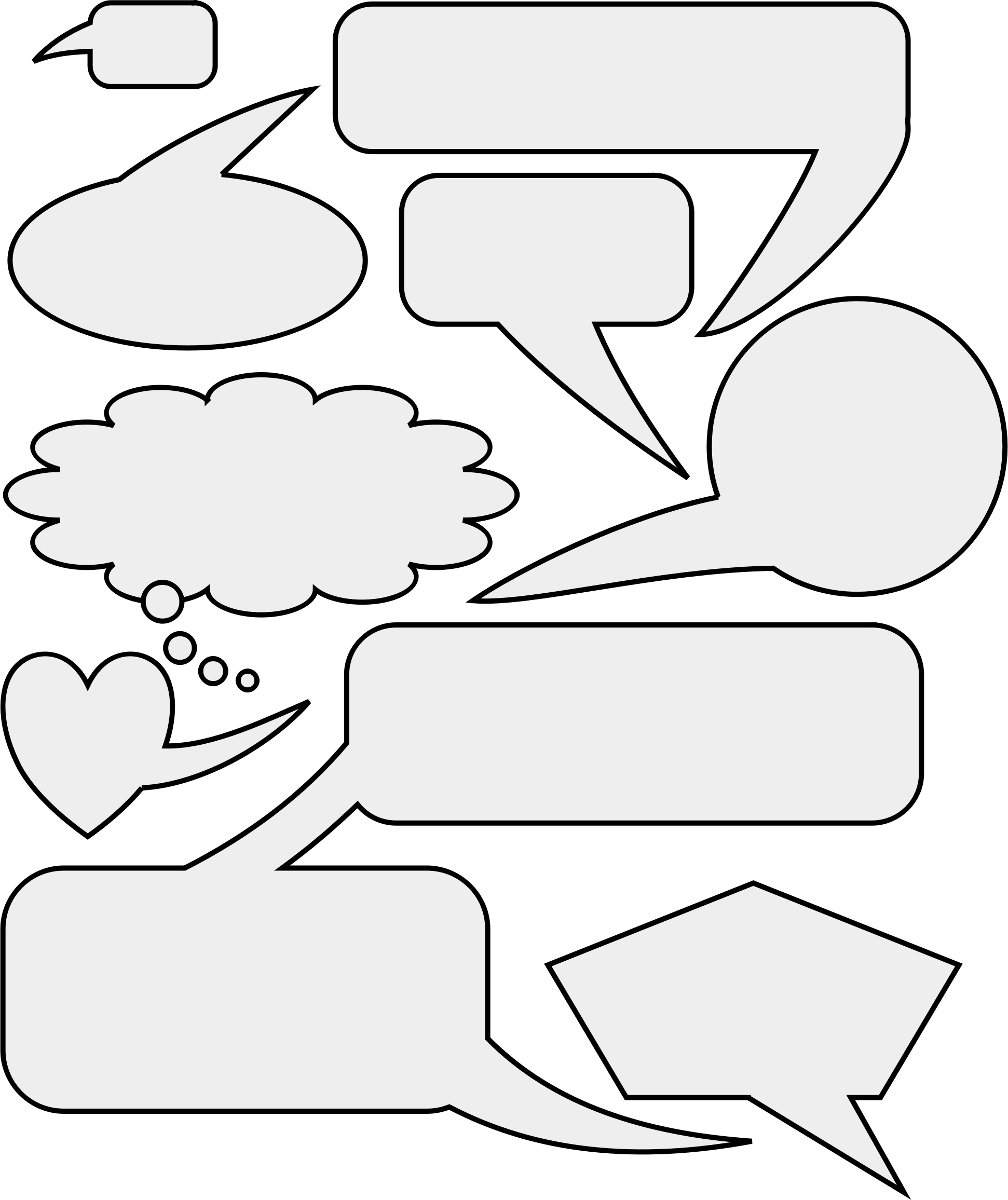 And thought bubbles big. Worry clipart speech