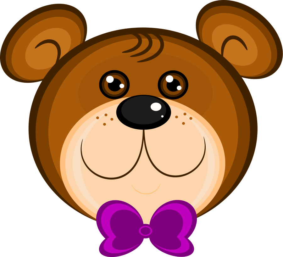Grizzly bear face pencil. Color clipart volleyball