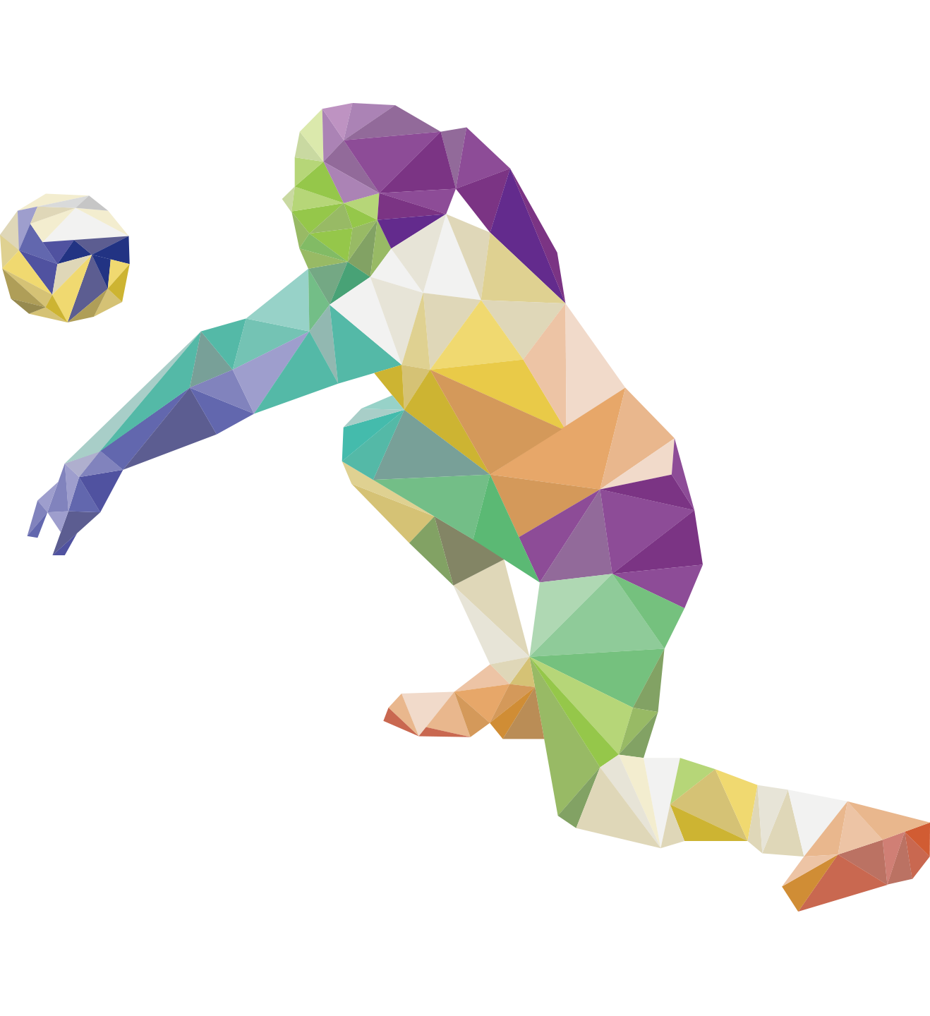 summer olympics sport. Color clipart volleyball player