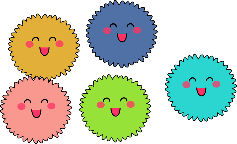 collection of fuzzy. Sunny clipart warm