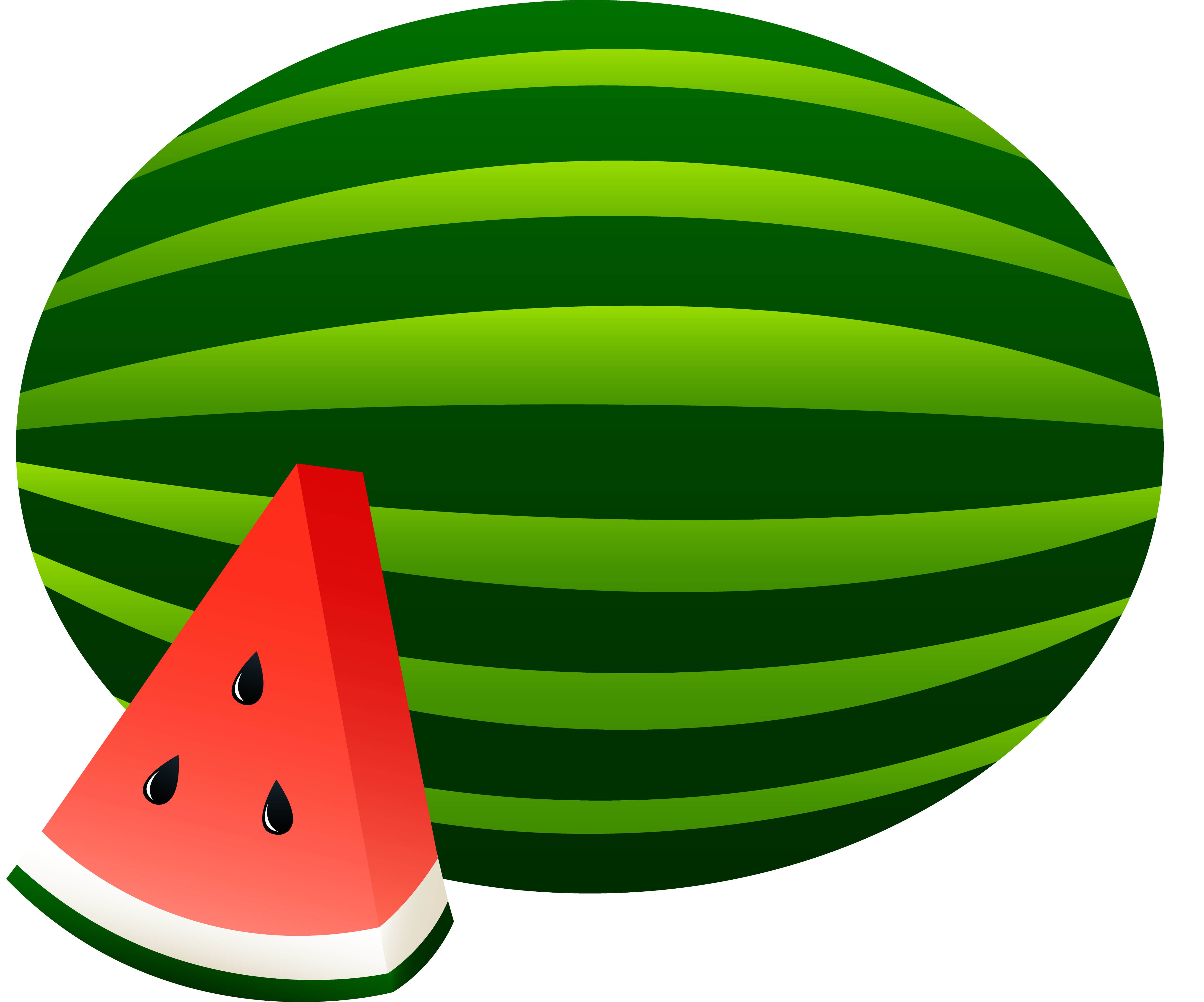 Watermelon clipart colour. Color drawing to print