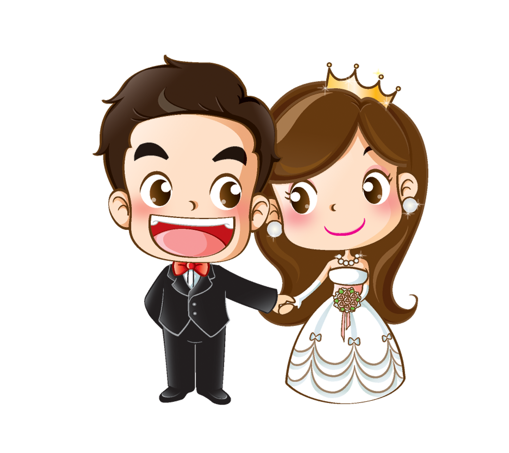 Invitation clipart colour. Wedding cartoon drawing at