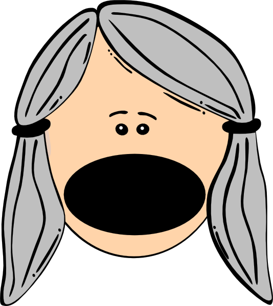 Old lady who swallowed. Nose clipart color
