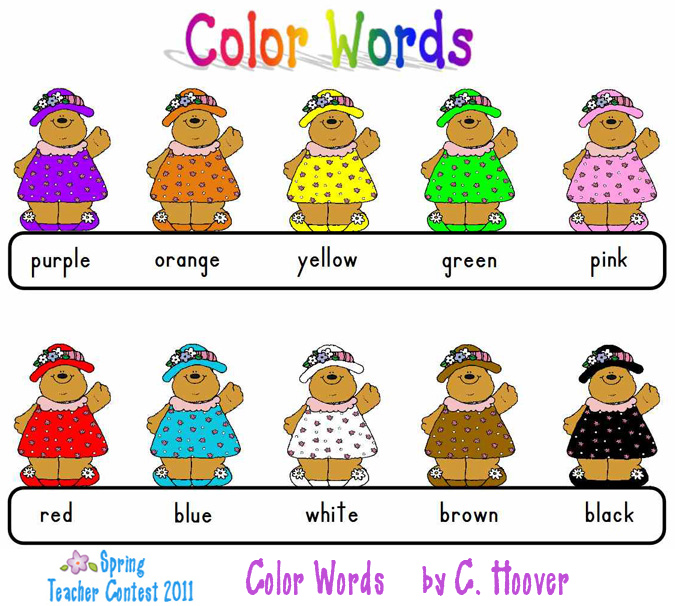 Color clipart word. Words clip art library