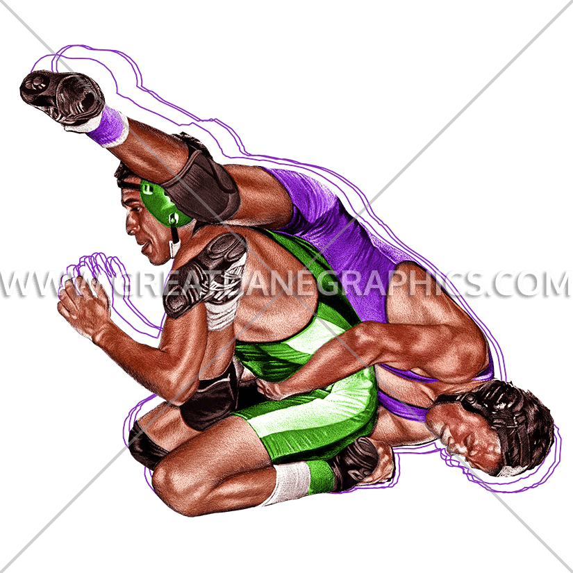 Color clipart wrestling. Leg ride production ready