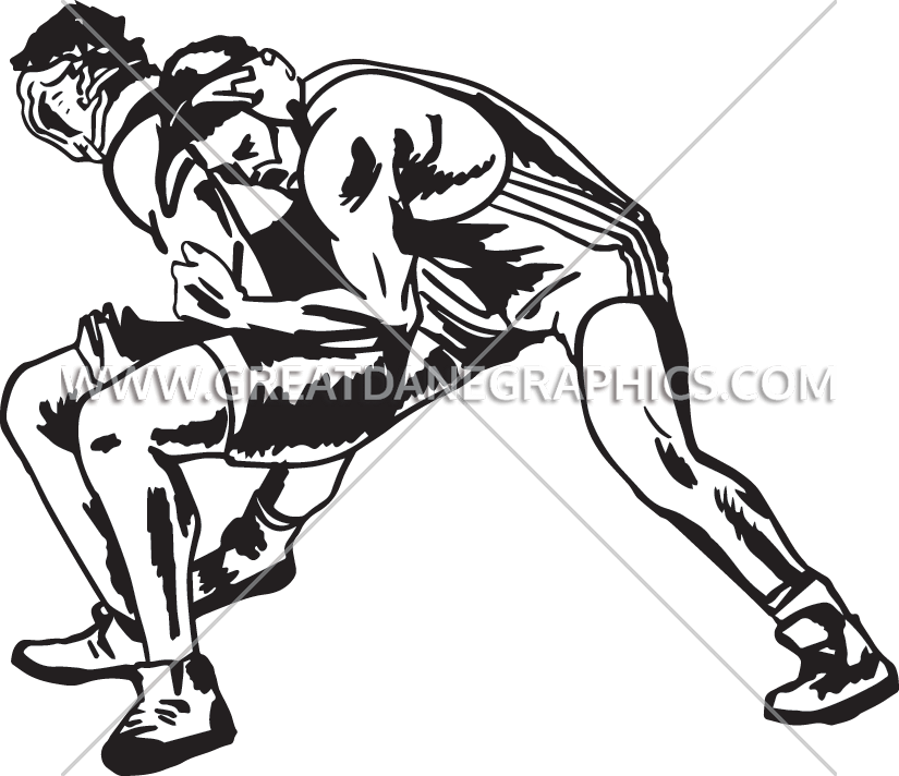 Color clipart wrestling. Take down production ready