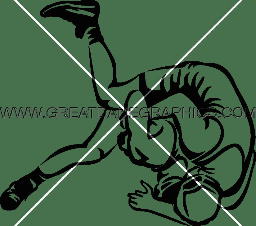 Flip production ready artwork. Color clipart wrestling