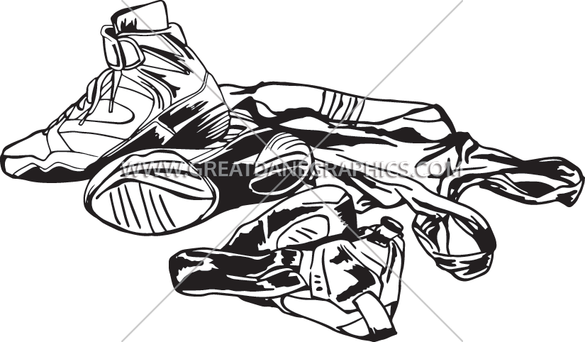 Wrestling gear production ready. Wrestlers clipart black and white