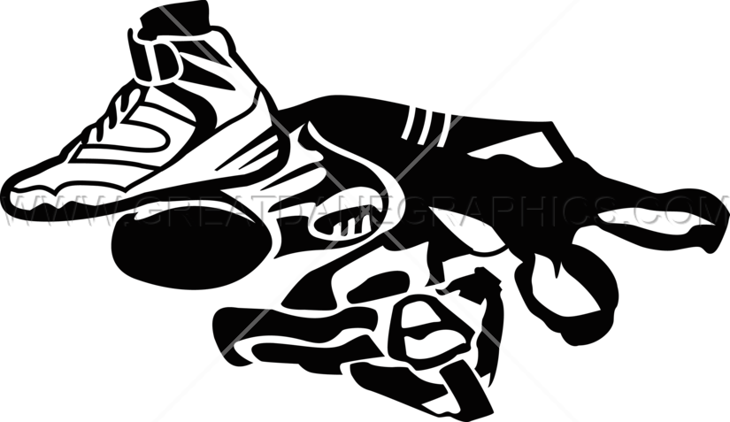 Wrestlers clipart black and white. Wrestling gear production ready
