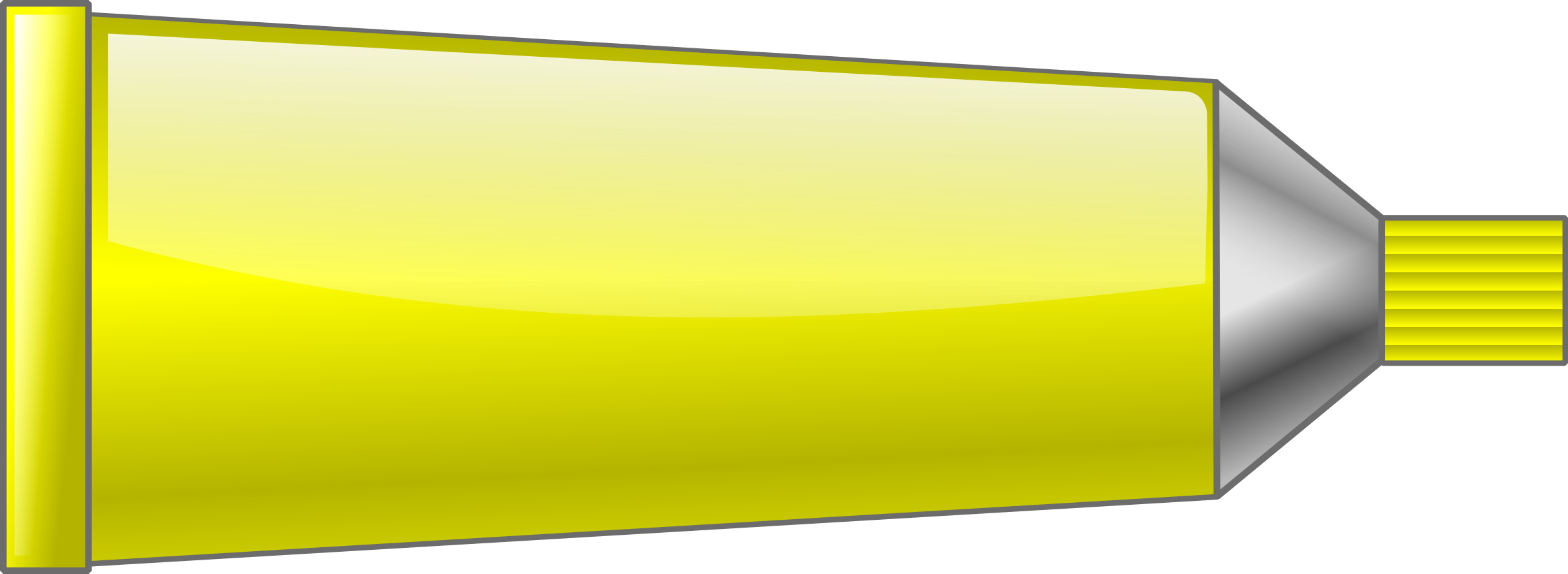 Color tube. Colors clipart yellow