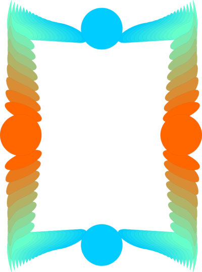 Illustration of a blank. Colorful border png