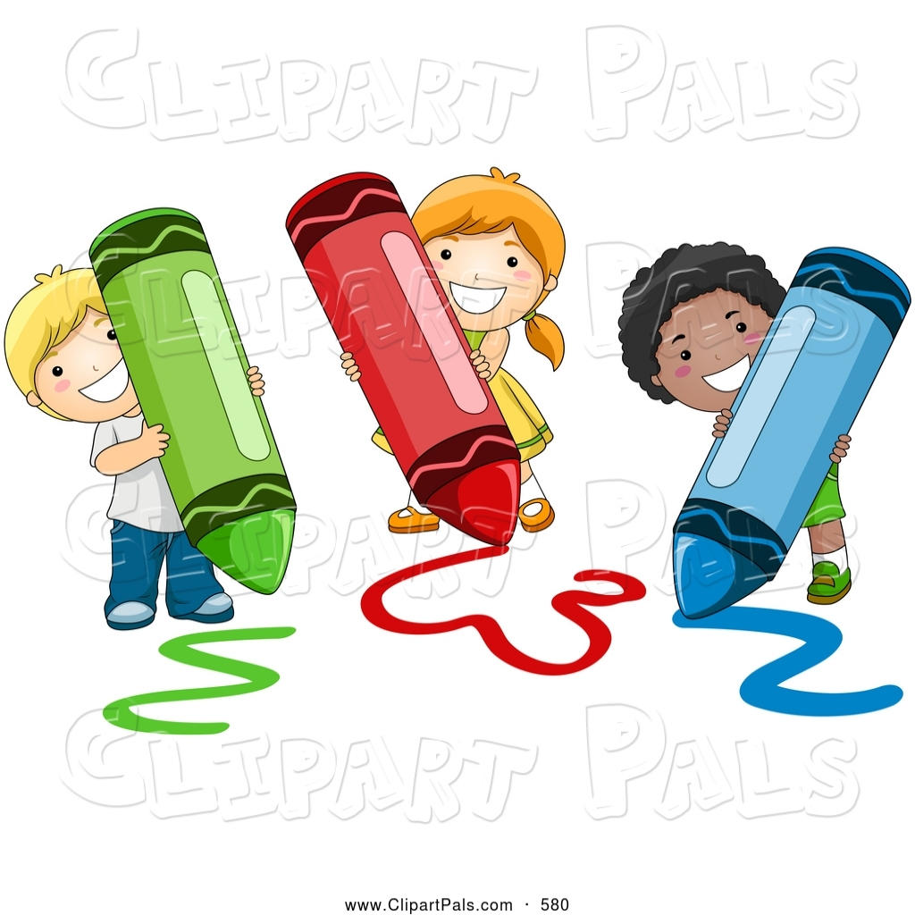 Coloring clipart. Pal of a happy