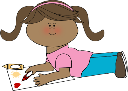 Coloring clipart. Girl