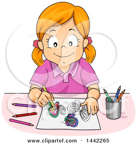 Coloring clipart.  collection of girl