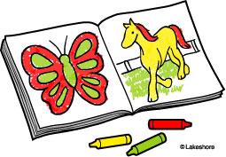 Coloring clipart. Clip art book