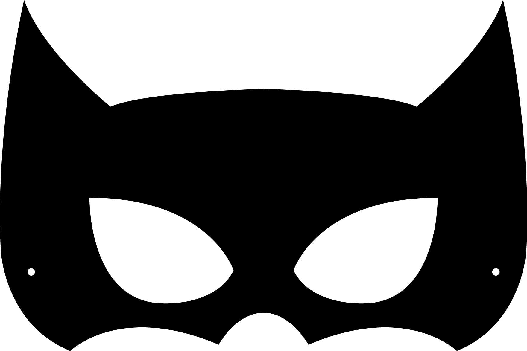 collection of mask. Coloring clipart batman