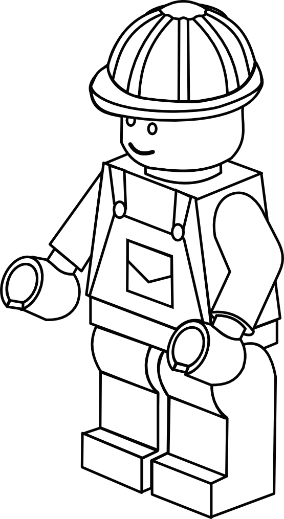 Fireman clipart colouring page. Free lego coloring party