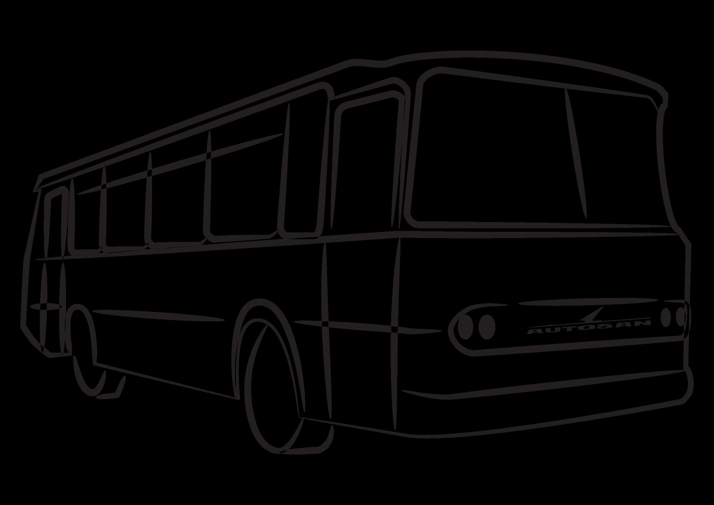 Sylwetka autosan h x. Coloring clipart bus