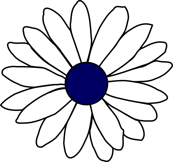 Navy clipart line. Center daisy clip art