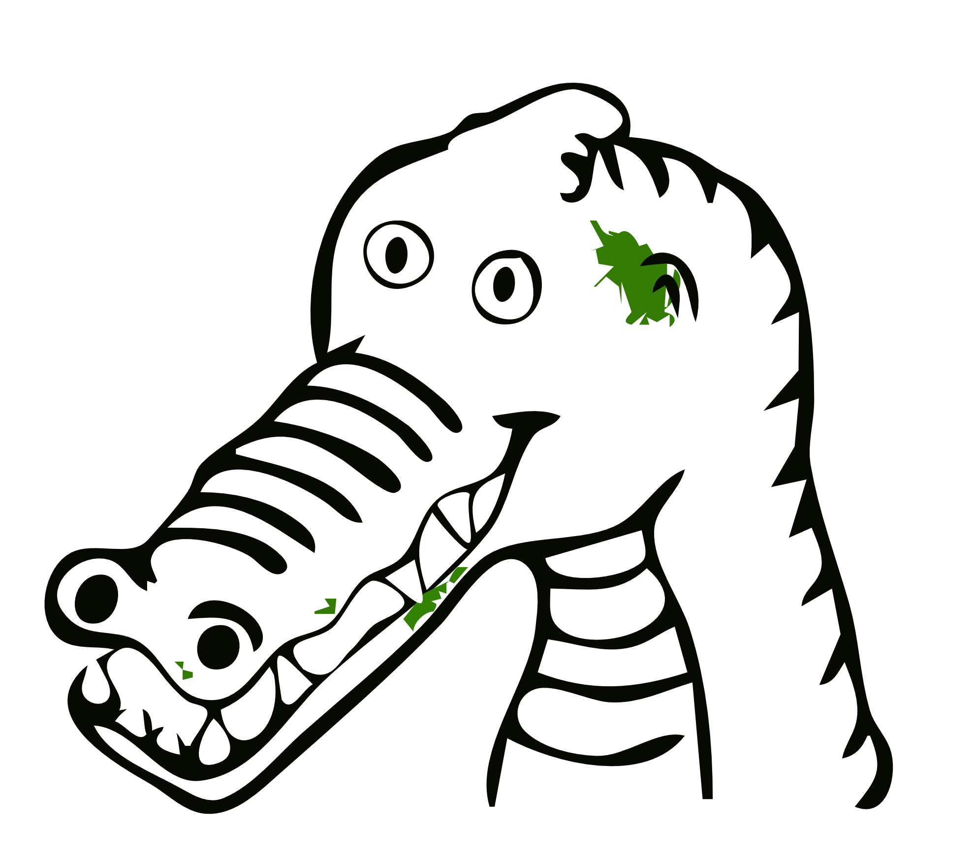 Black and white panda. Coloring clipart crocodile