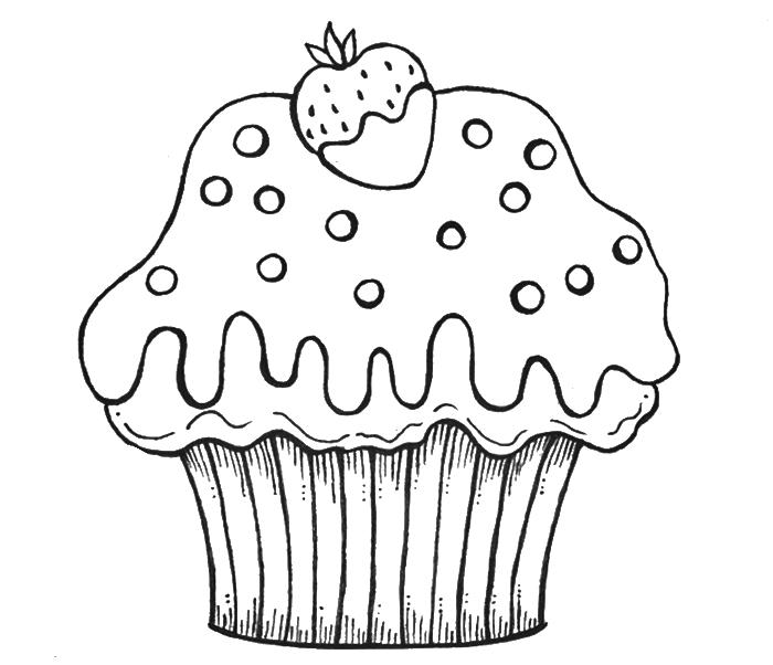 Birthday drawing at getdrawings. Coloring clipart cupcake