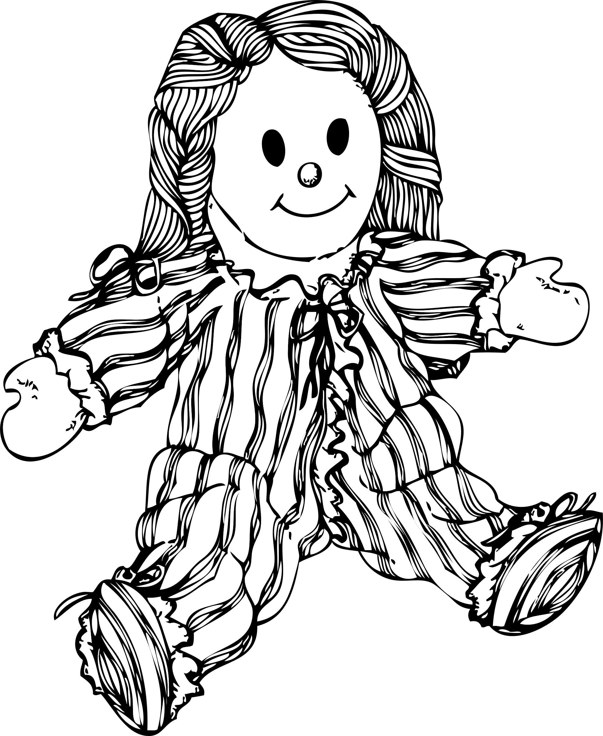 Stuffed big image png. Coloring clipart doll