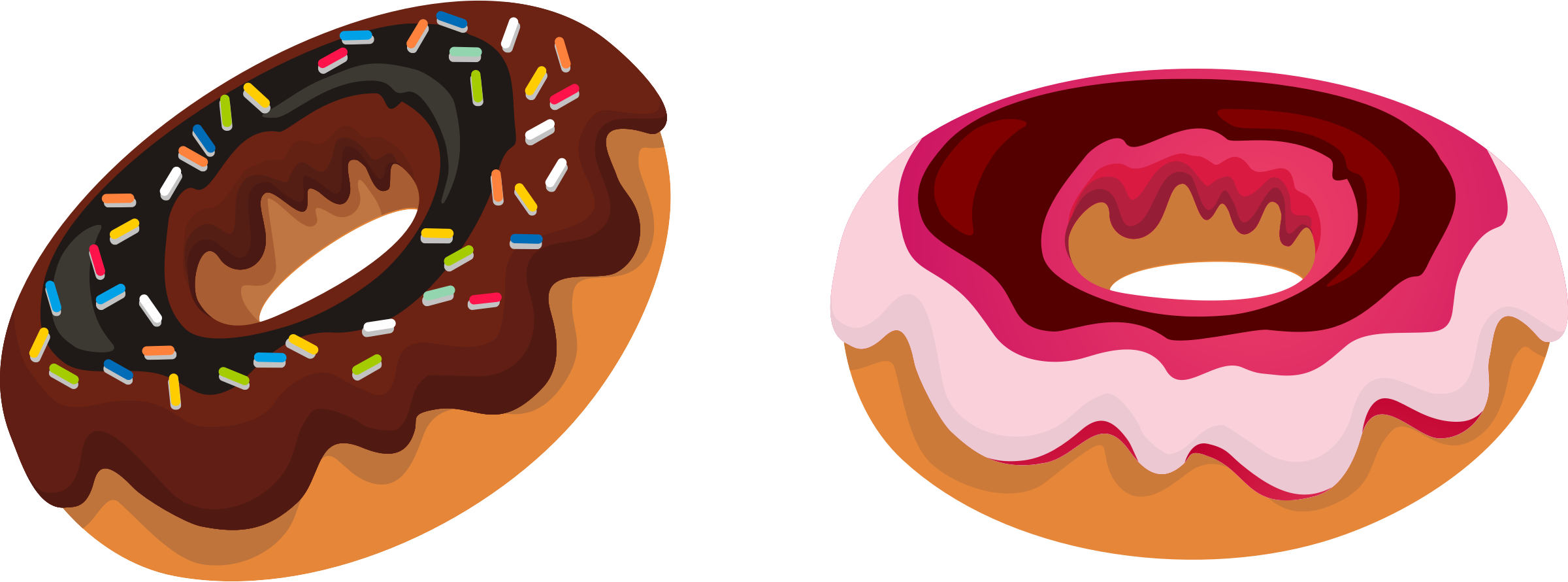 collection of transparent. Halloween clipart donut