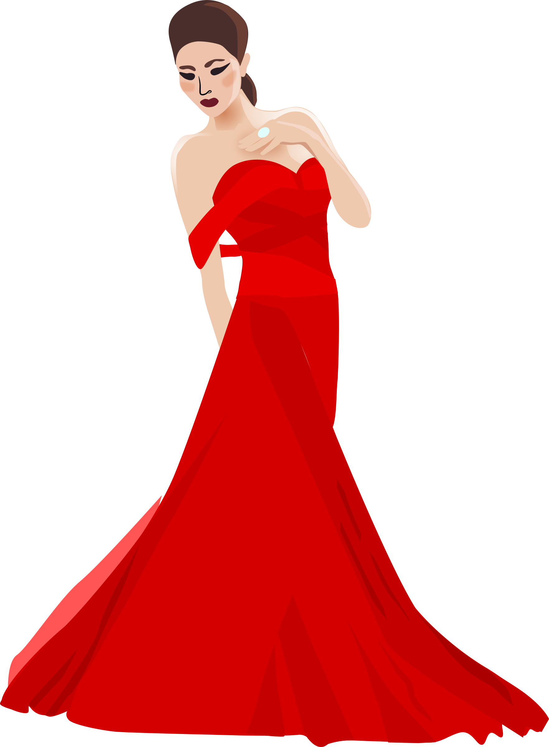 Gown woman black ball. Dress clipart easy