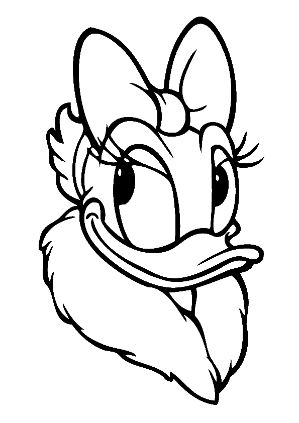 Ducks clipart coloring. Daisy duck drawing at
