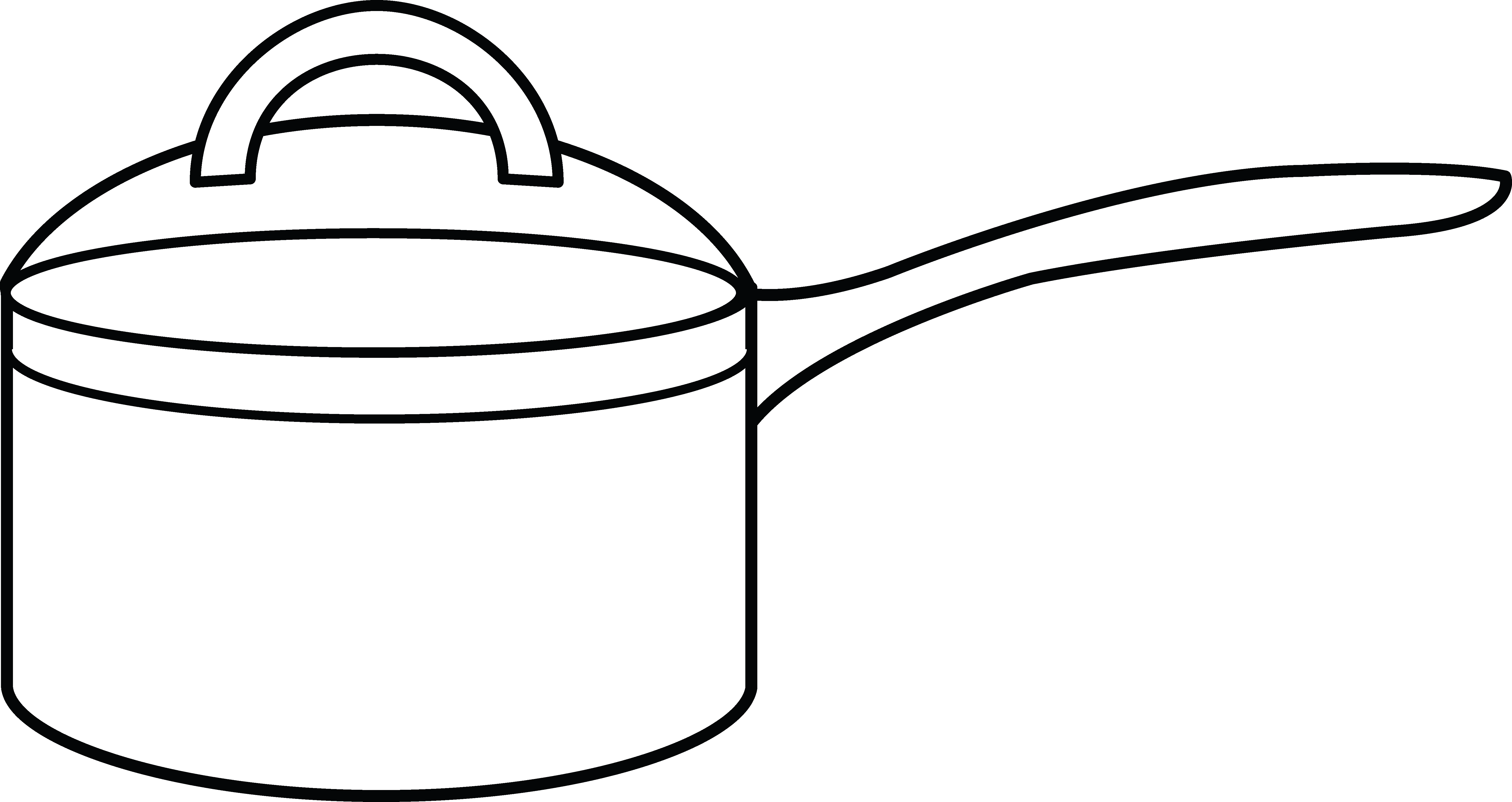 Coloring clipart fan. Cooking pot page free