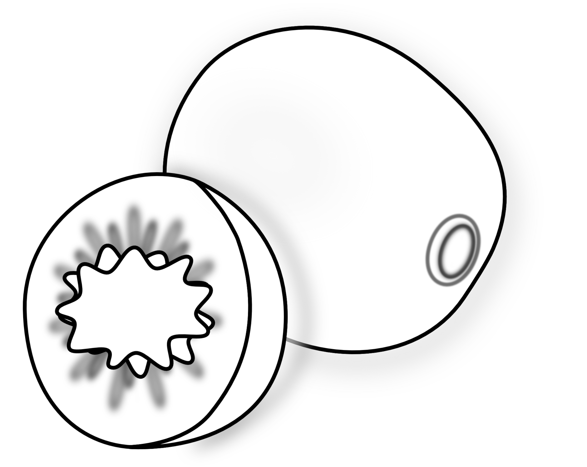 Black and white cheap. Coloring clipart fan