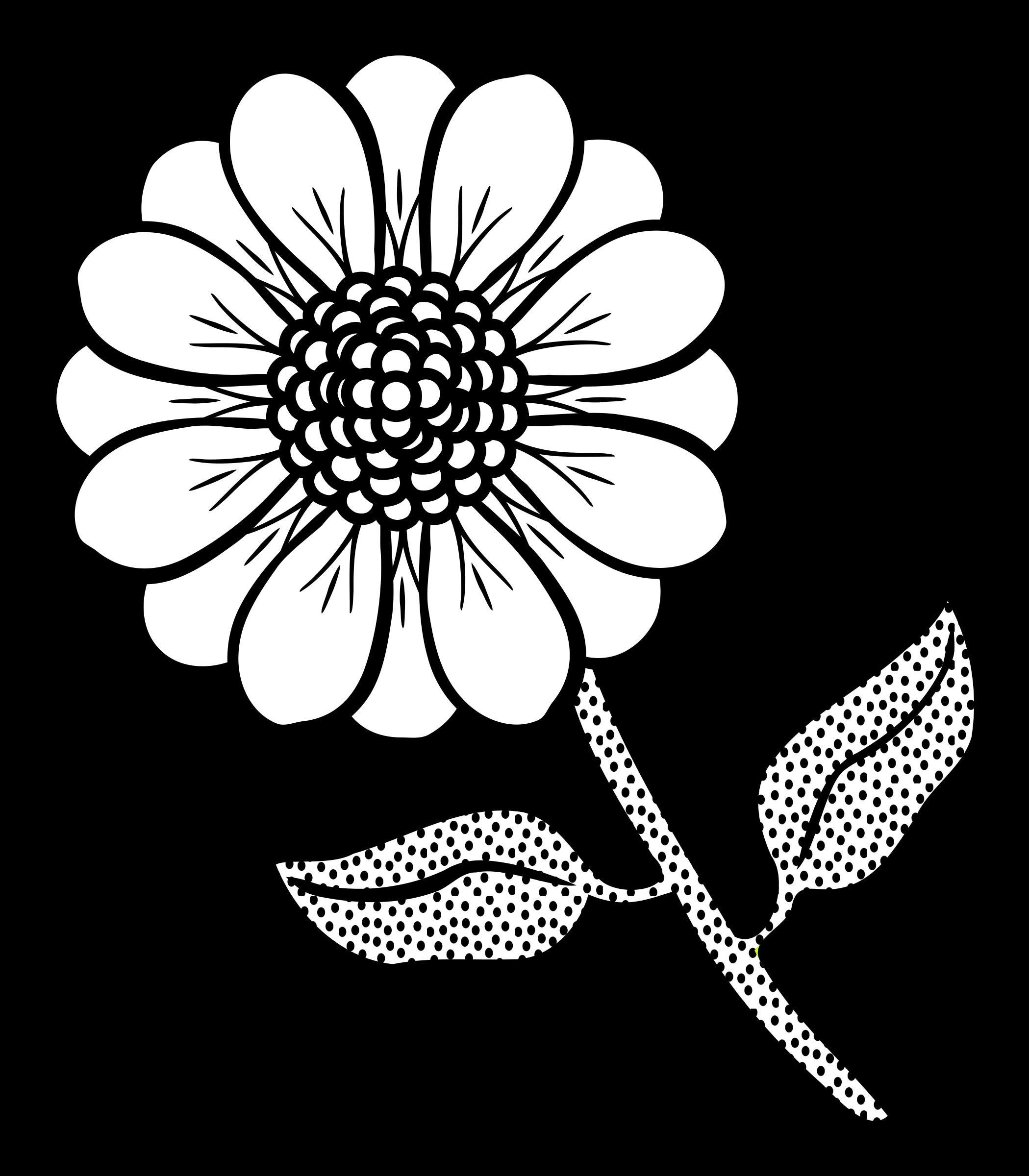 Clipart lineart big image. Flower line art png
