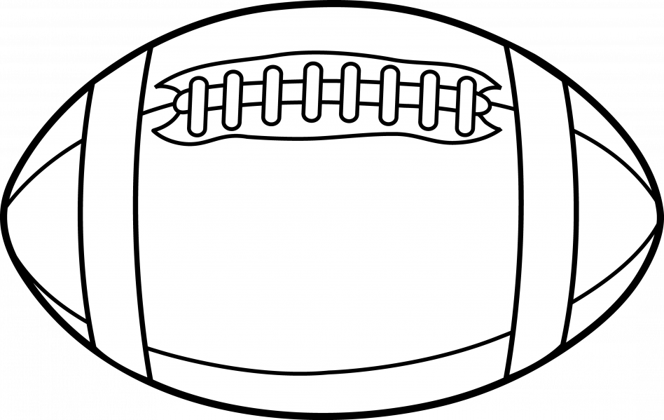 Coloring clipart football. Page outline cartoon boy