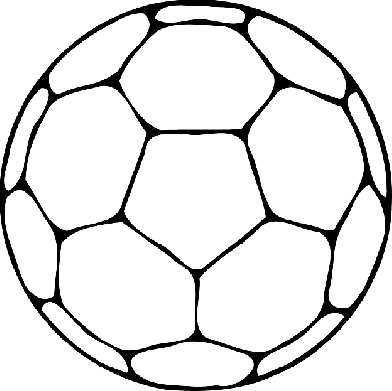 Top outline of cliparts. Coloring clipart football