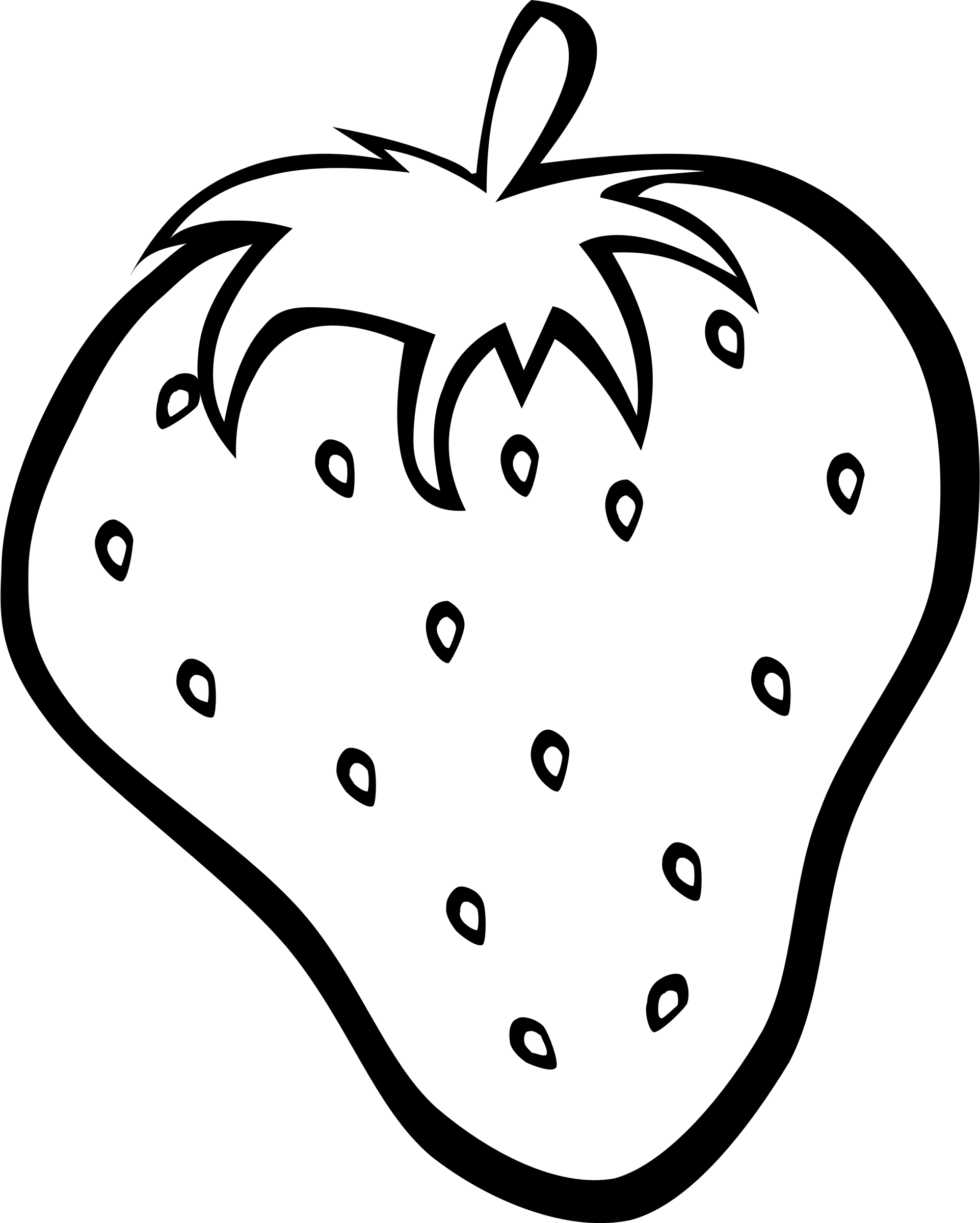 Simple fruit strawberry big. Oranges clipart coloring