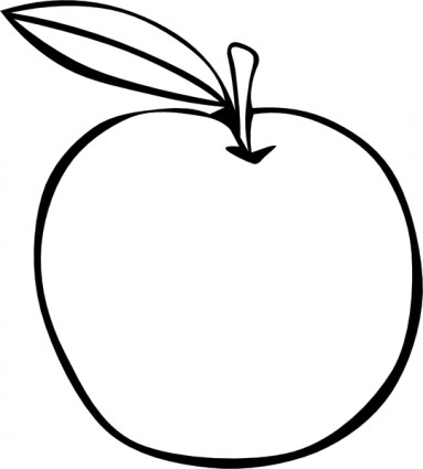 Apple coloring fruit clip. Mango clipart black and white