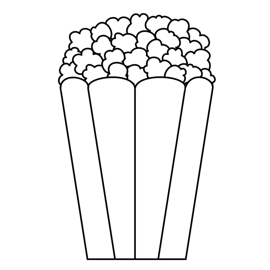White clipart popcorn.  collection of bucket