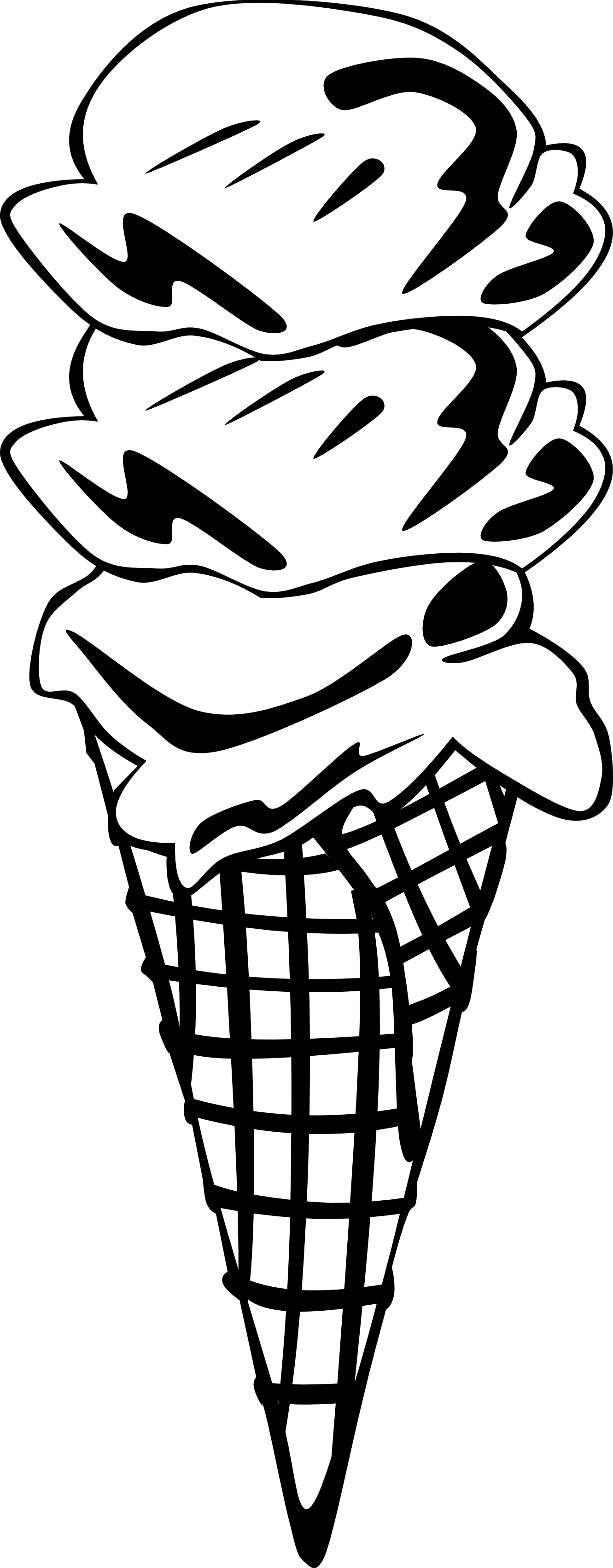 White clipart ice cream. Line drawing at getdrawings