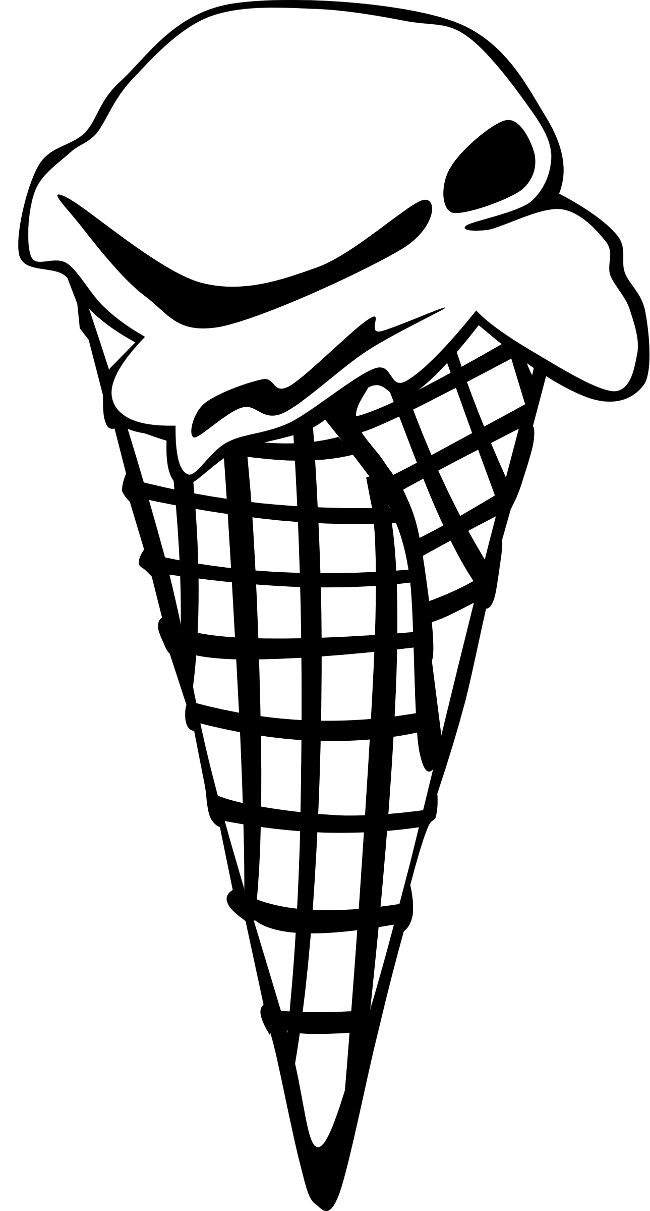 Fast food ice cream. Desserts clipart black and white