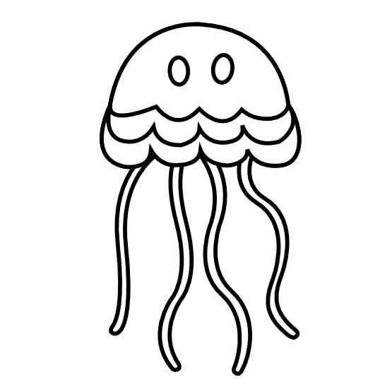 Shell clipart jellyfish.  collection of black