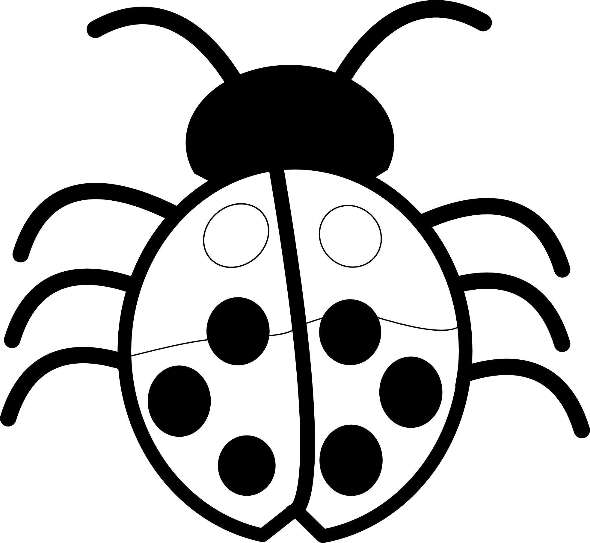 Ladybugs clipart symmetrical house. Ladybug black and white