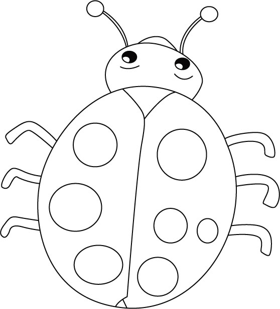 Ladybug clipart colouring. Outline smiles stomach cries