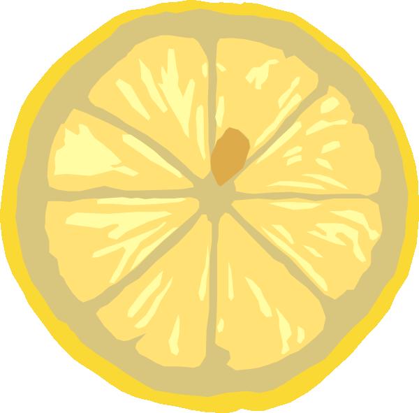 Lemons clipart gambar. Lemon slice clip art
