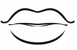 Lips clipart coloring page. Free pages download clip