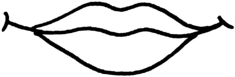 Free printable pages . Lips clipart coloring page