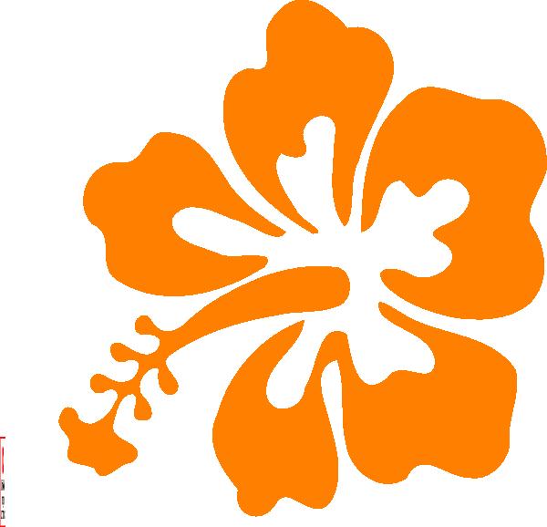 Orange hawaiian flower jokingart. Hibiscus clipart hybiscus