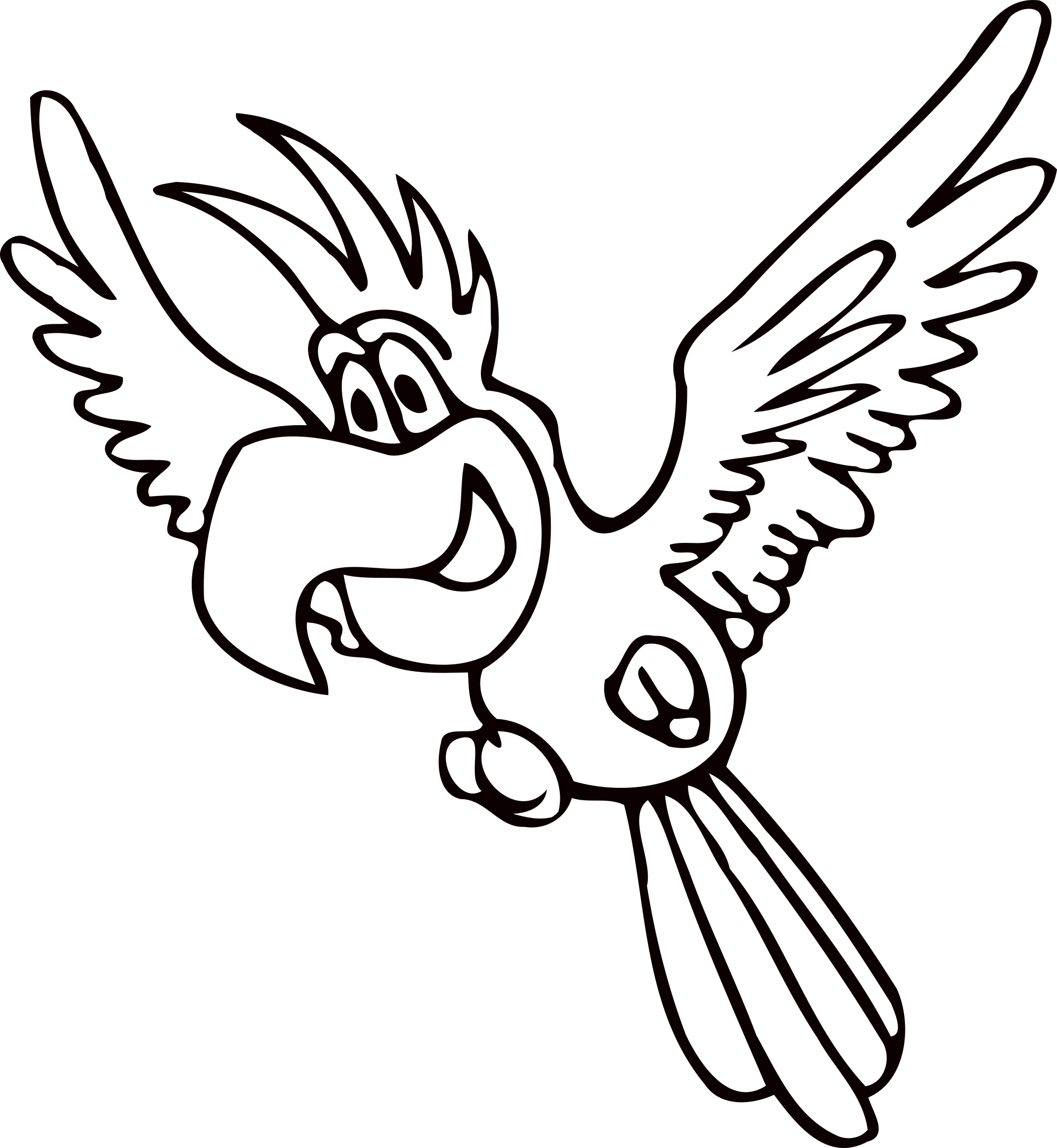Parrot clipart parrot head. Drawing outline at getdrawings