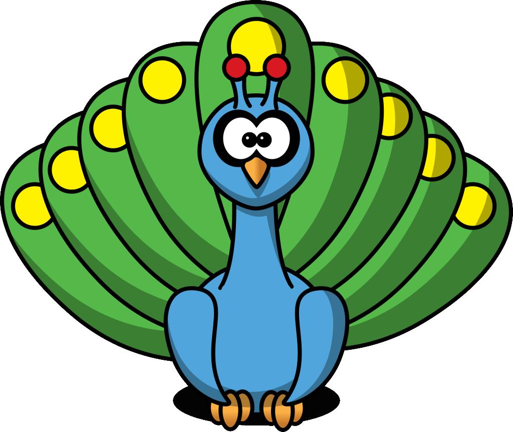 peacock clipart cute baby